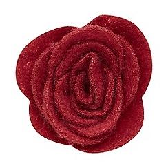 Joe Browns - Red felt flower pin