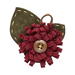 Joe Browns - Red button flower pin
