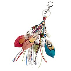 Joe Browns - Multi coloured funky feather bag charm