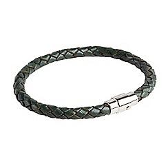 Joe Browns - Dark turquoise mens leather bracelet