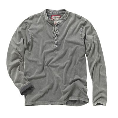 Dark Grey Aged Mash Top