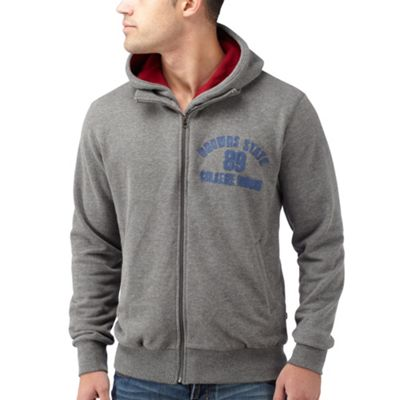 Grey Layered College Sweat