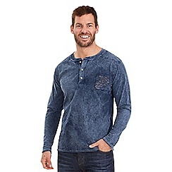 Joe Browns - Blue biker henley top
