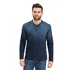 Joe Browns - Blue dip dye indigo henley top