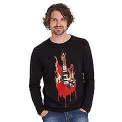 Joe Browns - Black flaming guitar top