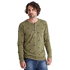 Joe Browns - Khaki man and machine henley top