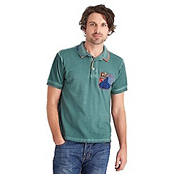 Joe Browns - Dark turquoise crazy patch polo