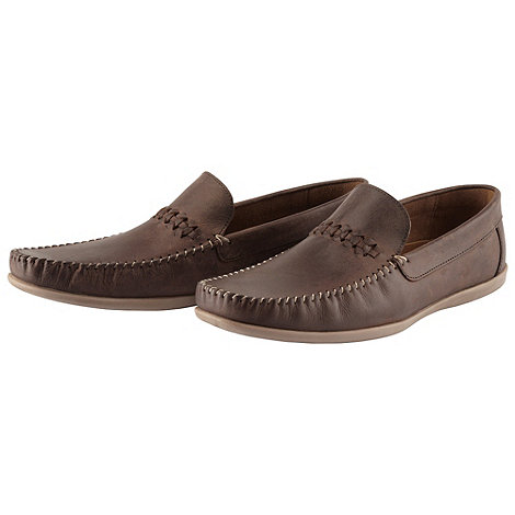 Joe Browns - Chocolate laid back leather loafer