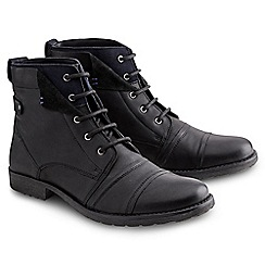 Joe Browns - Black waxed soft leather boots