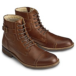 Joe Browns - Brown waxed leather army boots