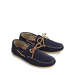 Joe Browns - Navy enjoy the ride suede shoes