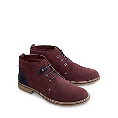 Joe Browns - Dark red must have suede desert boots