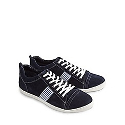 Joe Browns - Navy easy livin suede shoes
