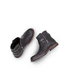 Joe Browns - Black oiled buckle boots