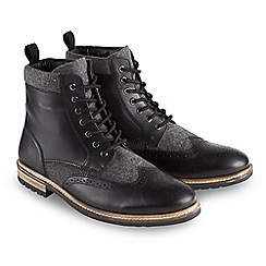 Joe Browns - Black mix it up leather boots