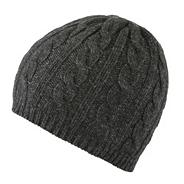 Dark grey super soft cashmere blend hat
