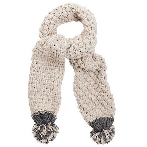 Joe Browns - Off white anytime pom pom scarf