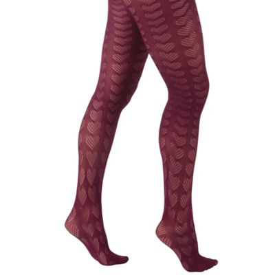 Red heart woolly tights