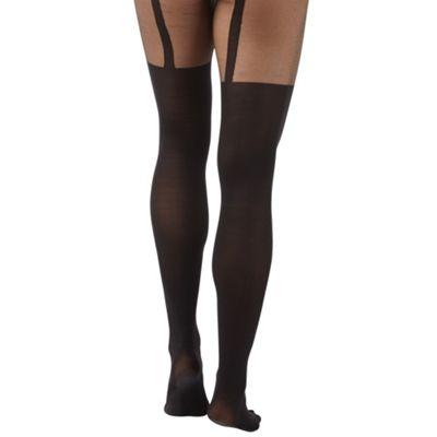 Black sexy suspender tights