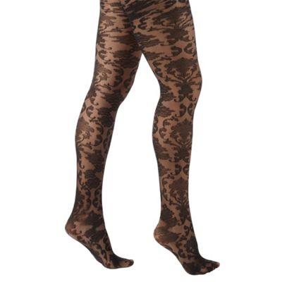 Black beautiful baroque tights