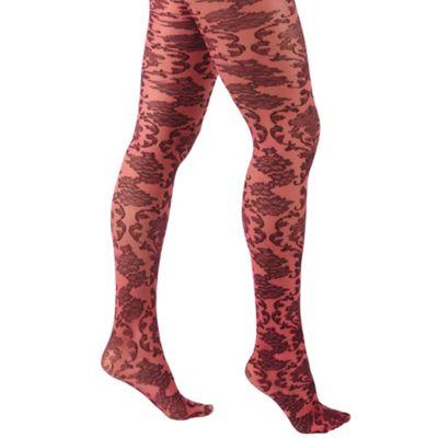 Pink beautiful baroque tights