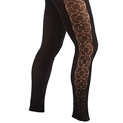 Joe Browns - Black luscious lace footless tights