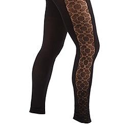 Joe Browns - Black luscious lace footless tights