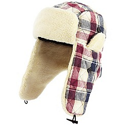 Joe Browns - Navy cool check trapper hat