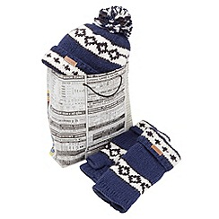 Joe Browns - Multi coloured geo hat and glove set