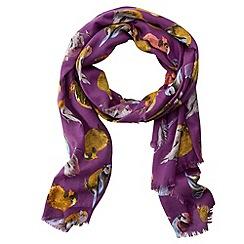 Joe Browns - Purple beautiful bird scarf