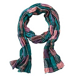 Joe Browns - Green check it out scarf