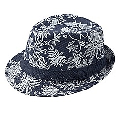 Joe Browns - Navy tropical print trilby