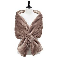 Joe Browns - Natural glamorous faux fur stole