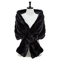 Joe Browns - Black glamorous faux fur stole
