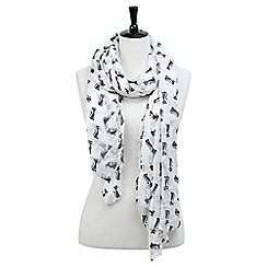 Joe Browns - White magical cat scarf