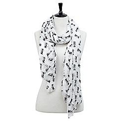 Joe Browns - White magical cat scarf
