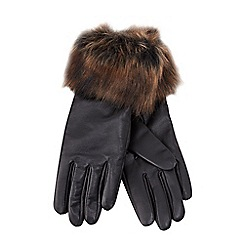 Joe Browns - Black faux fur gloves