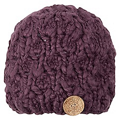 Joe Browns - Plum hand knit button hat