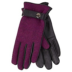 Joe Browns - Purple harris tweed gloves