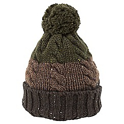 Joe Browns - Multi coloured stripey cable beanie hat