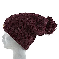 Joe Browns - Red cable wool bobble hat
