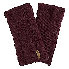 Joe Browns - Red cable wool hand warmers