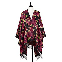 Joe Browns - Multi coloured floral wrap cape