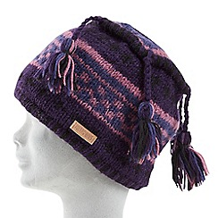 Joe Browns - Purple wool tassel hat