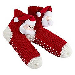 Joe Browns - Red santa bed socks