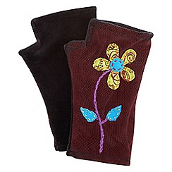 Joe Browns - Black funky applique hand warmers
