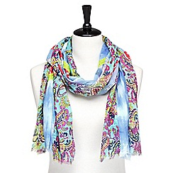 Joe Browns - Multi coloured patchwork floral scarf