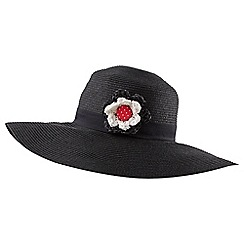 Joe Browns - Black senorita floppy hat