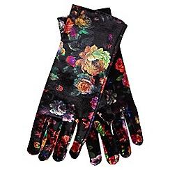Joe Browns - Black fabulous floral gloves