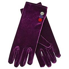 Joe Browns - Purple very vintage velvet gloves